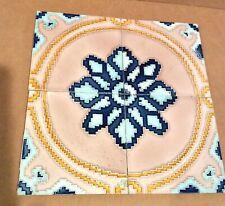 New listing 4 Tile Panel, Japan, Geometric Deco, Liberty Brand, 1920's, 12x12, Japanese
