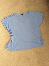 Ladies Blue (M&Co) Cold Shoulder Short Sleeve Top Fits Size 16 Petite