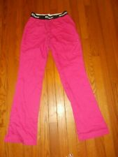 Ladies Greys Anatomy Scrub Pants Pink with Slits - Size Xs