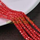 New 100pcs 4mm Cube Square Faceted Gold Foil Glass Loose Spacer Beads Red