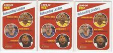 SHAQUILLE O'NEAL 2000-01 TOPPS HERITAGE  #150 REBOUNDING LEADERS TIM DUNCAN GARN