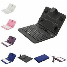 iRULU PU Leather Micro USB Keyboard Case With Buttons Stand Cover for Tablet PC