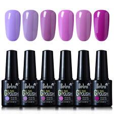 Belen Soak Off Gel Nail Polish UV LED Need Top Base 6 Colors Set
