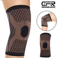 Copper Knee Support Compression Sleeve Brace Patella Arthritis Jogging Pain Wrap