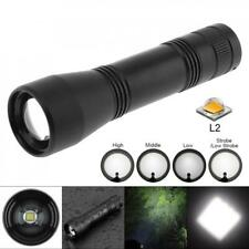 Super Bright XML L2 LED 1600 Lumens Zoomable Flashlight 5 Modes Lights