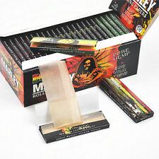 10 Packs BOB MARLEY 78MM Natural Organic Cigarette Rolling Papers 1 1/4 Tobacco