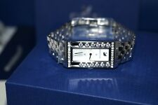 Authentic $549 DANIEL SWAROVSKI LOVELY CRYSTALS SQUARE WB STS/MOP SILVER WATCH