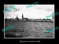 OLD POSTCARD SIZE MILITARY PHOTO WWI RIGA LATVIA VIEW OF THE CITY c1920 1