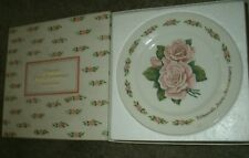 Vintage Avon 15th Anniversary Plate' The Avon Roses' Mint In Box