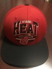 best loved 8622a 29475 Miami Heat Snapback Hat NBA Mitchell   Ness Nostalgia Co Hardwood Classics  Cap