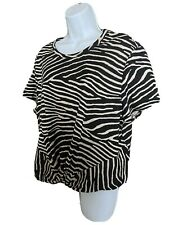 H&M Zebra Print Twist Front Short Sleeve T Shirt Top Size XL BNWT