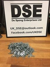 500x M5 Washer Steel BZP Bright Zinc Plated Chrome Metric 5mm FormA DIN125A DSE