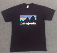 Patagonia Black T-Shirt Summer Cotton Tees Skateboard Hip Hop Streetwear T Shirt