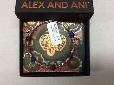 Alex and Ani Illusion Dark Orchid Bangle Bracelet Rafaelian Rose Gold NWTBC