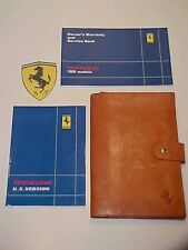 Ferrari Testarossa Owners Manual_Leather Pouch Schedoni_Warranty Book_480/87 OEM