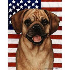 Puggle Fawn Patriotic Ii Flag