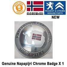 Napapijri Car Badge Emblem Logo Round Genuine Peugeot 206 207 208 New