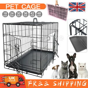 Dog Cage Puppy Pet Crate Foldable Carrier - Small Medium Large S M L XL XXL