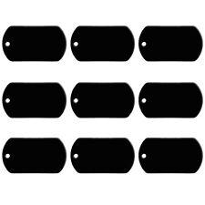 20pcs Black Aluminum Custom Pet Dog Tags Disc Personalized Engraved Name ID Tags