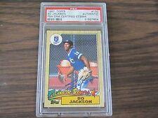 1987 Topps # 170 Bo Jackson Autograph / Signed Card PSA DNA Kansas City Royals