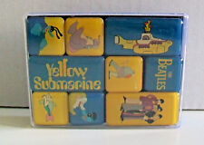 THE BEATLES Set of 9 Mini Fridge Magnets YELLOW SUBMARINE Brand New in Clear Box