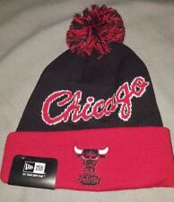 NEW ERA NBA CHICAGO BULLS WINTER FRESH POM BEANIE ADULT HAT BLACK 80204216 NEW