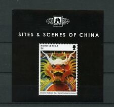 Montserrat 2012 MNH Sites & Scenes of China 1v S/S Dragon Carving Temple Facade