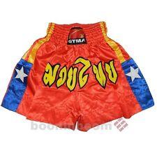 New Kick Boxing Trunk Muay Thai Shorts MMA Training Pants-Orange/Blue in size L