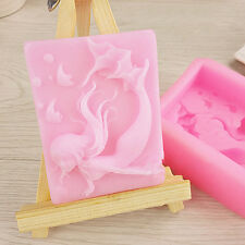 Silicone 3D Beauty Mermaid Fondant Mould Chocolate Cake Decorating Soap Mold DIY