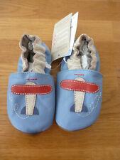 Baby Lederschuhe Krabbelschuhe Hausschuhe 6 - 12  Monate Hellblau NEU