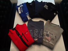 7 Mens Fleece Jacket Sweatshirts Ralph Lauren Polo Sport + Blue Black Gray Large