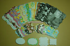 42 Piece Sizzix Stampin Up Top Note & Tag Set from Glitter Cardstock