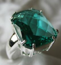 Green Amethyst Sterling Silver ring NEW Sz 7