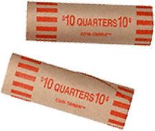 50 PREFORMED COIN WRAPPER TUBES FOR QUARTER QUARTERS!!!