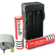 2 X protegidos 18650 3000 Mah 3.7 v Baterías Recargables + Digital Cargador Nuevo Uk