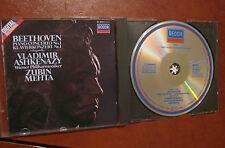 BEETHOVEN piano concerto No1 -CD- DECCA- ASKHENAZY-METHA-fino 2 cd spese fisse