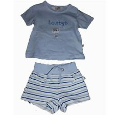 KANZ Jungen Baby Babyset 2-teilig Set Kurzehose kurze Hose Bermudas T-Shirt blau