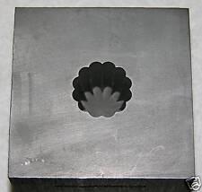 "Optic Mold Graphite Lampwork Glass Bead 12pt 5/8""x3/4dp"