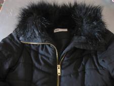 Steppjacke Jacke warm Pelz abnehmbar H&M tailliert Schwarz Gr. 152 wunderschön