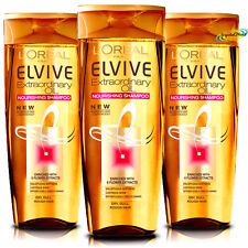 3x L'oreal Loreal Elvive For Women Extraordinary Oil Nourishing Shampoo 400ml