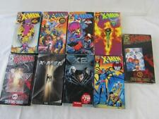 LOT OF 9 USED VHS MARVEL X-MEN ANIME CARTOONS AND MOVIES PHOENIX SAGA,SENTINELS