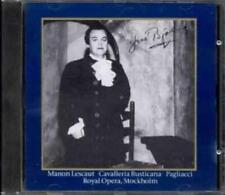 JUSSI BJORLING PUCCINI MANON LESCAUT CD ROYAL OPERA STOCKHOLM MASCAGNI PAGLIACCI