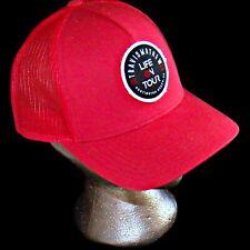 Travis Mathew  Red Life on Tour Flexfit Baseball Cap Trucker Snapback Golf Hat