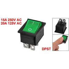 KCD4 DPST ON-OFF 4 Pin terminali bilancieri Interruttore 15A / 20A 250V AC S2H4