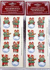 (48) RETRO HOLLIKIDS CHRISTMAS SEALS Stickers Scrapbooking fun! MINT Shackman