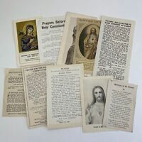 Vintage Lot Of 10 Early Catholic Little Pamphlet Booklets Religion Ephemera #2