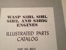 Pratt & Whitney Wasp R-1340 S3H1, S1H1, S1H2 & S3H1G Parts Manual