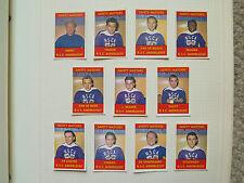 FOOTBALL TEAM RSC ANDERLECHT 11 MATCH BOX LABELS c1960 NORMAL SIZE MADE BELGIUM