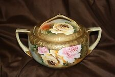 NIPPON BLUE MAPLE LEAF MARK 1891-1911 MAGNIFICENT HEAVY GOLD COVERED BOWL
