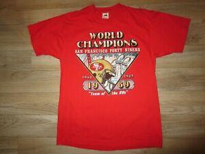 San Francisco 49ers 1989 NFL Super Bowl Champions Shirt LG L VINTAGE